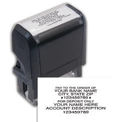 Endorsement Stamp - Self-Inking, Popular Layout, 102170