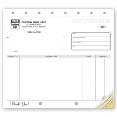 Classic Unlined Small Invoices