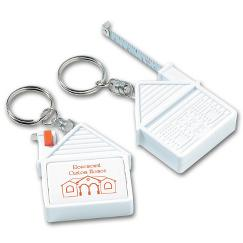 House Tape Measure Key Tag