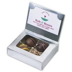 Chocolate Truffle Box with Business Card