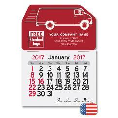 Monthly Magnetic Van Calendar