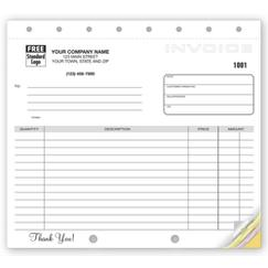 Classic Design, Lined Small Format Invoices