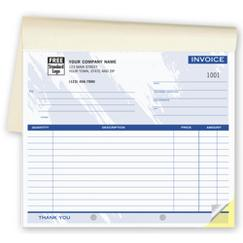 Invoices - Small Lined Booked