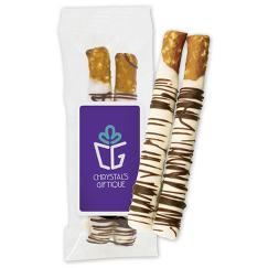 2 pc Chocolate Dipped Pretzel Bag