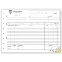 Classic, Extra Wide Invoices
