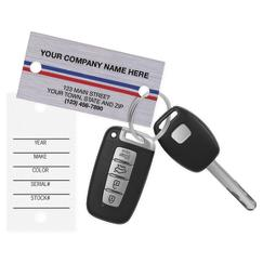 Auto Key Tags, Brushed Chrome