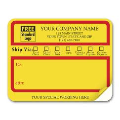 Jumbo Mailing Labels w/ Ship Via Check Boxes, Padded