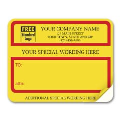 Jumbo Padded Mailing Label with Special Wording