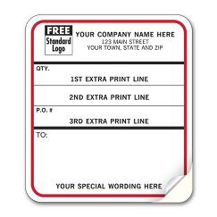 Shipping Content Labels, Padded, White w/ Black and Red