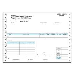 Continuous Pest Control Work Order/Invoice