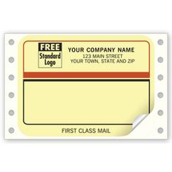 Continuous Mailing Label, First Class Mail