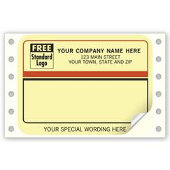 Mailing Labels, Continuous, Beige w/ Black/Rust Border