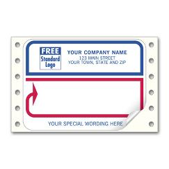 Mailing Labels, Continuous, White with Blue/Red Borders