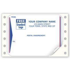 Postal Endorsement Mailing Labels, Continuous, White