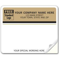 Enterprise Mailing Labels, Laser, Tan Return Address
