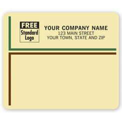 Carnegie Mailing Labels, Laser, Tan w/ Borders
