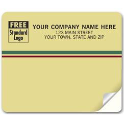 Venture Mailing Labels, Laser, Tan w/ Stripes