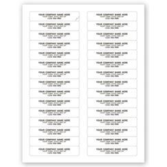 File Folder Labels, Laser, White