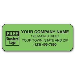 Fluorescent Laser Mailing Label