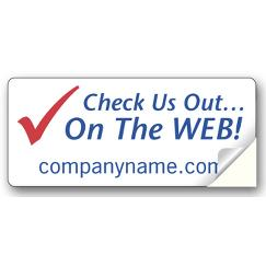 Small Web Site Advertising Label