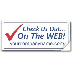 Large Web Site Advertising Label