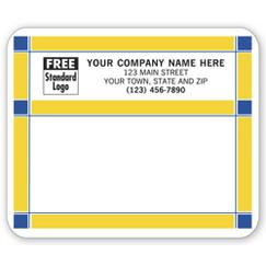 Blue and Gold Laser and Inkjet Mailing Label