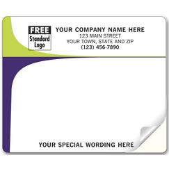 Chartreuse and Purple Laser and Inkjet Mailing Label