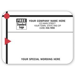 Red/Black Modern Design Padded Mailing Label