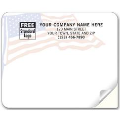 American Flag Mailing Labels, Laser, Flag Background
