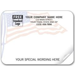 American Flag Padded Mailing Label
