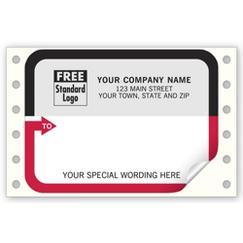Mailing Labels, Continuous, White w/ Black/Red Border