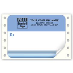Mailing Labels, Continuous, White w/ Blue Address Area