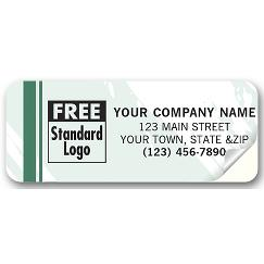 Advertising Labels, Colors Design, Padded,  2 1/2 X 1