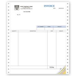 Service Invoices, Continuous, Classic - Quickbooks Compatible