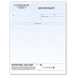 Laser Job Estimate Parchment