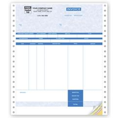 Continuous Inventory Invoice Parchment - Onewrite Compatible