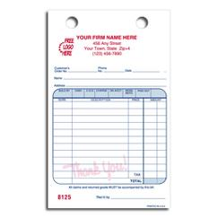 Register Forms, Cash and Carry