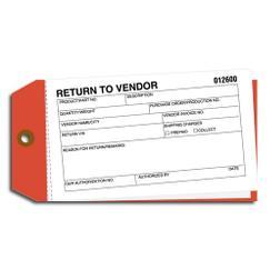 Material Control Tags - Return to Vendor