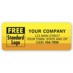 Advertising Labels, Yellow with Orange Sunset Shaded