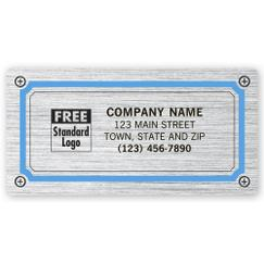 Advertising Labels, Brushed Chrome Poly Film