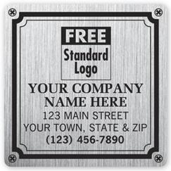 Weatherproof Plate Label, Brushed Silver Poly, 3 X 3