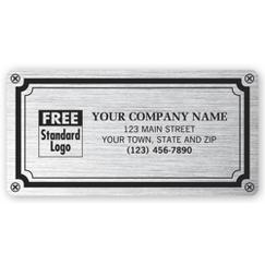 Weatherproof Plate Label, Brushed Silver Poly, 4 X 2