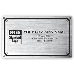 Weatherproof Plate Label, Brushed Silver Poly, 5 X 3