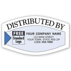 Distributed By Service Labels, White/Blue