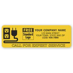 Call For Expert Service Electrical Labels,
