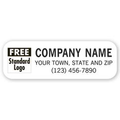 Small Vehicle Sign, 1-ink color with Standard Logo