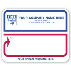 Jumbo Mailing Labels, Padded, White with Blue/Red Border