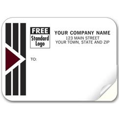 Park Avenue Mailing Labels, Padded, w/ Black/Burgundy
