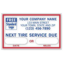 Next Tire Service, Static Cling Windshield Labels