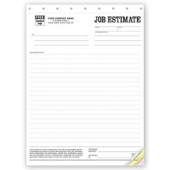 Job Estimate Forms, Sets